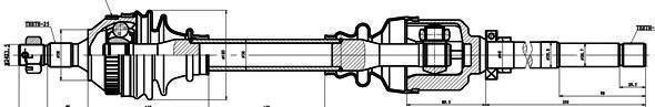 210226 Привод в сборе CITROEN BERLINGO 1.8-1.9D 96- прав. +ABS
