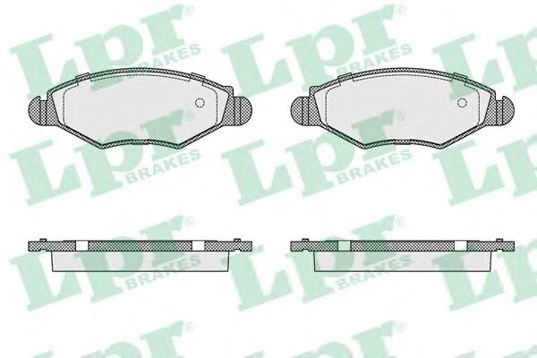 05P903 Колодки тормозные PEUGEOT 206/206SW 01(-ABS) передние