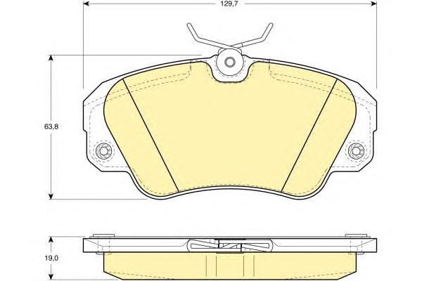 6109571 Колодки тормозные OPEL OMEGA A/OMEGA B/SENATOR B передние