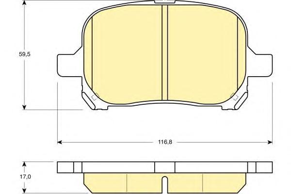 6131529 Колодки тормозные TOYOTA CAMRY/PREVIA 2.2-3.0 96-/LEXUS RX300 00-03 передние