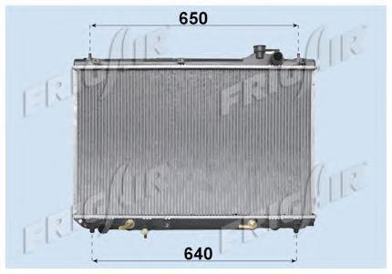 01153084 Радиатор, охлаждение двигателя