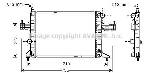OLA2306 Радиатор OPEL CORSA C 1.4 / 1.8 i 09/00-