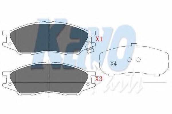 KBP6577 Колодки тормозные NISSAN ALMERA CLASSIC 06- передние