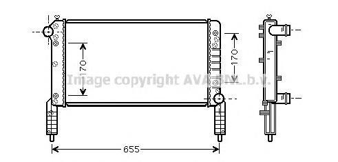 FTA2263 Радиатор FIAT DOBLO 1.2/1.6 01-
