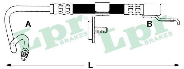 6T46561 Шланг торм M10x1x426 mm зад.прав Escort