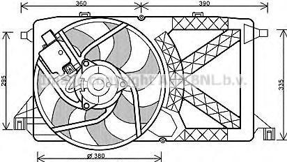 FD7544 Вентилятор радиатора FORD TRANSIT 06- 2.2TDCi б/конд