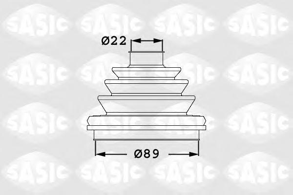 1906047 Пыльник ШРУСа AUDI 100/80/A4/A6/A8/VW PASSAT/SKODA SUPERB 90-08 нар.