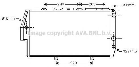 AI2020 Радиатор системы охлаждения AUDI: 100 (44, 44Q, C3) 1.8 quattro/2.0/2.0 KAT/2.0 D Turbo/2.2/2.2 KAT/2.2 quattro/2.2 quatt