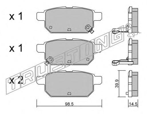 9330 К-т торм. колодок Re SUZ Swift IV, SX4 S-Cross