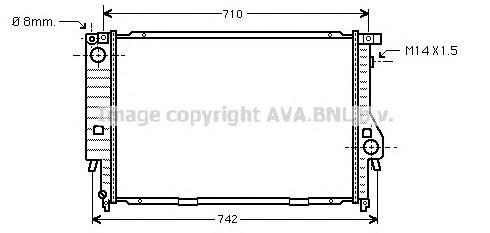 BW2164 Радиатор BMW E34 2.5/4.0 88-97