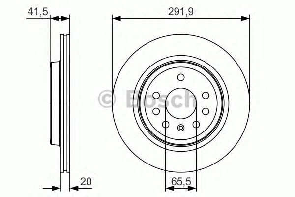 0986479S27 Диск тормозной OPEL VECTRA 02-/SIGNUM 03-/SAAB 9-3 02- задний вент.D=292мм.