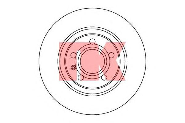 2047113 Диск тормозной AUDI A4 2.0-4.2 03- задний вент.D=300мм.