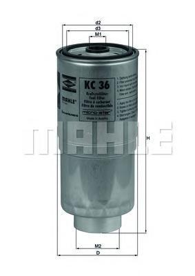 KC36 Фильтр топливный AUDI 100 2.5TD