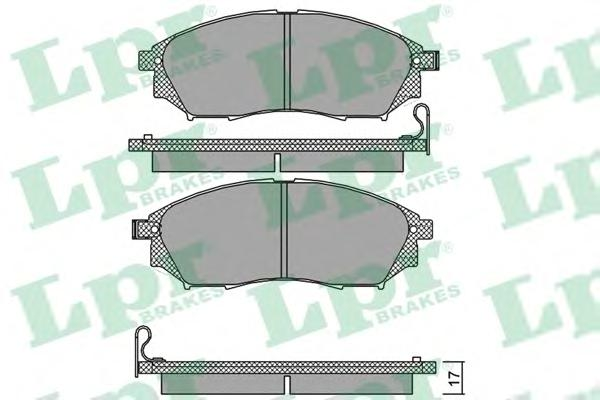 05P1406 Колодки тормозные NISSAN MURANO/PATHFINDER/QASHQAI/RENAULT KOLEOS передние