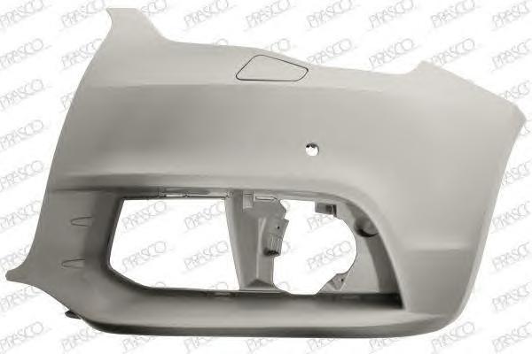 AD1201114 Бампер передний, левая часть (для а/м с омывателем фар и парктроником) / AUDI A1 10~