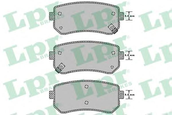 05P1344 Колодки тормозные KIA CEED/RIO/SPORTAGE/HYUNDAI ACCENT/i20/i30/ix35 задние