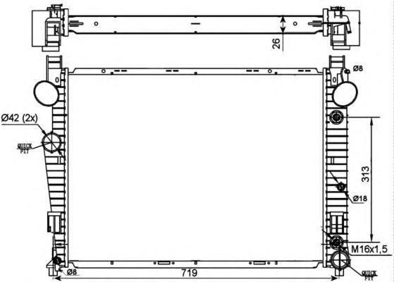 53107 Радиатор MB W220 S280-S320 98-