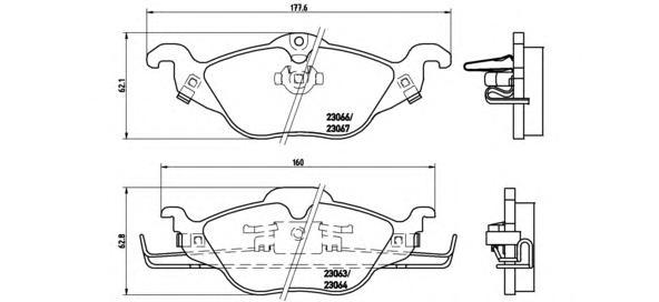 p59030 Комплект тормозных колодок, дисковый тормоз