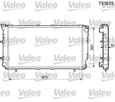 731675 Радиатор, охлаждение двигателя