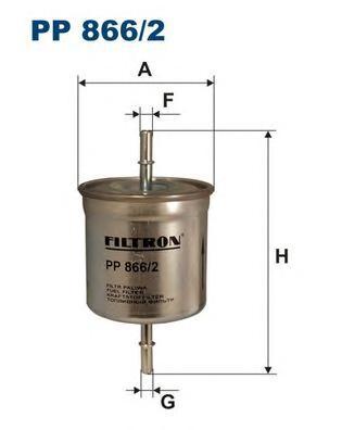 PP8662 Фильтр топливный VOLVO S40/S60/S80/XC90 1.6-4.4 95-