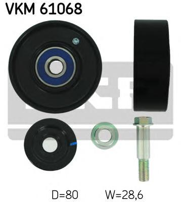 VKM61068 Ролик промежуточный поликлинового ремня