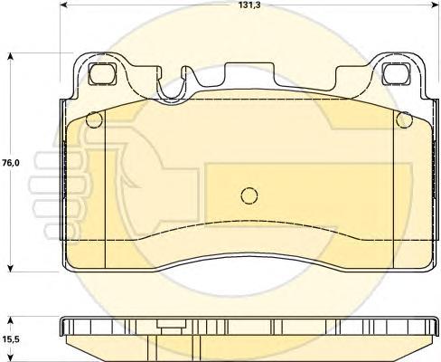 6119069 Колодки тормозные MERCEDES C218/W212/C197 63 AMG задние