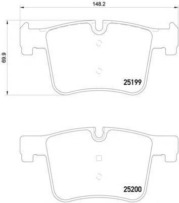 8DB355015781 Колодки тормозные BMW 1 F20/3 F30/X3 F25 10- передние