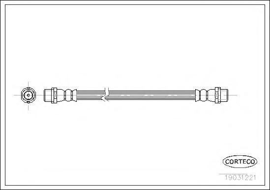 19031221 Шланг тормозной MERCEDES-BENZ: SPRINTER 4-t фургон 408 CDI/408 D/410 D/410 D 4x4/411 CDI/412 D/412 D 4x4/413 CDI/414/41