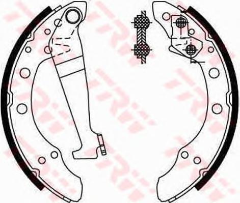 GS8092 Колодки тормозные барабанные задн AUDI: 100 76-82, 100 Avant 77-83, 80 78-86, 80 86-91, 90 84-87, 90 87-91, COUPE 80-88,