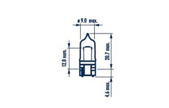 70717 Лампа W5W RPB 12V 5W W2,1X9,5d