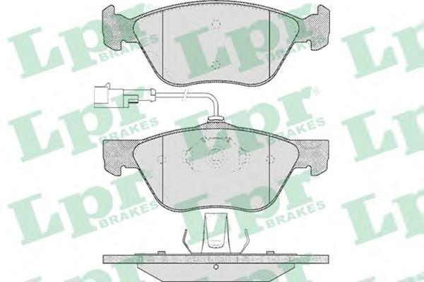 05P614 Колодки тормозные ALFA ROMEO 145/146/156/FIAT MAREA 96-/MULTIPLA 99- передние