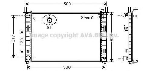 FD2326 Радиатор системы охлаждения FORD: FIESTA V (JH_, JD_) 1.4 TDCi 01 - , FUSION (JU_) 1.4 TDCi 02 -   MAZDA: 2 (B2W) 1.4 CD