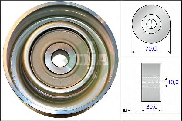 532073810 Ролик ремня приводного MITSUBISHI 1.8-2.4 08-