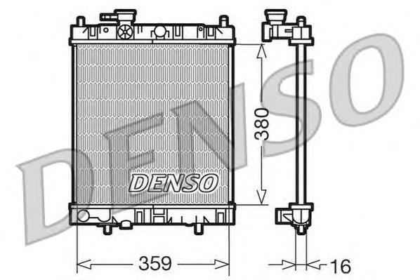 DRM46001 Радиатор системы охлаждения NISSAN: MICRA II (K11) 1.0 i 16V/1.3 i 16V/1.5 D 92 - 03