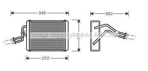 FD6317 Радиатор отопителя FORD: TRANSIT CONNECT (P65_, P70_, P80_) 1.8 16V/1.8 Di/1.8 TDCi 02 - , TRANSIT c бортовой платформой/