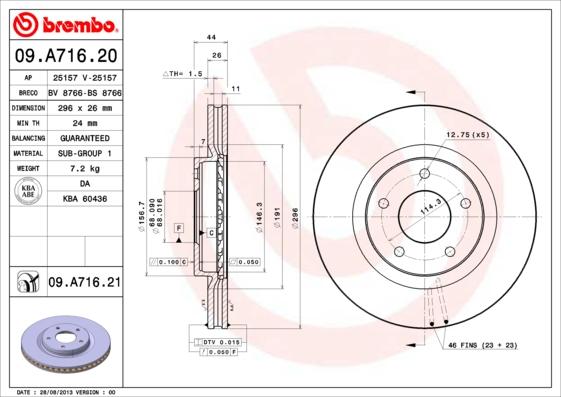 09A71620 Диск тормозной NISSAN QASHQAI 07-/X-TRAIL 07-/RENAULT KOLEOS 08- передний вент.