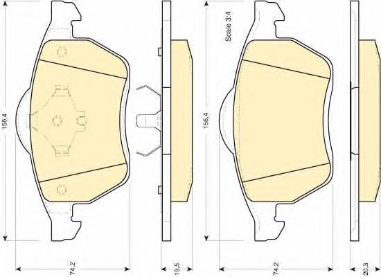 6112042 Колодки тормозные VOLKSWAGEN SHARAN 2.0/2.8/1.9D /FORD GALAXY 9506 передние