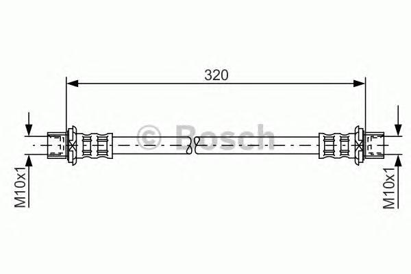 1987481181 Шланг тормозной TOYOTA RAV4 II 1.8-2.0 00- 320мм задний
