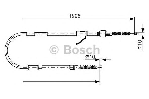 1987482069 Трос ручного тормоза MITSUBISHI L200 -07 1995мм