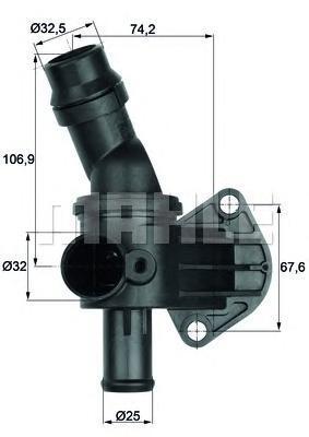 ti887 Термостат, охлаждающая жидкость
