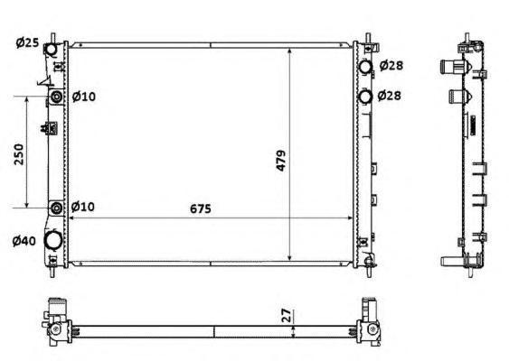 53887 Радиатор SUB B9 Tribeca АКПП 05-