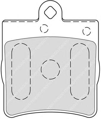 FDB1311 Колодки тормозные MERCEDES-BENZ W202/W203/W209/W210/R171/CHRYSLER CROSSFIRE зад.