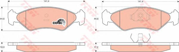 GDB953 Колодки тормозные дисковые передн FORD: FIESTA III 89-95