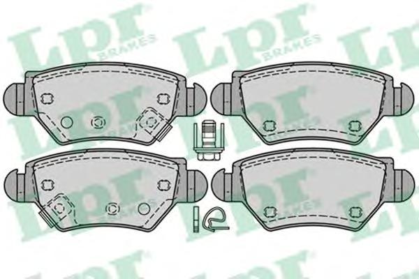 05P1227 Колодки тормозные дисковые задн OPEL: ASTRA G хечбэк 98-05, ASTRA G кабрио 01-05, ASTRA G купе 00-05, ASTRA G седан 98-0