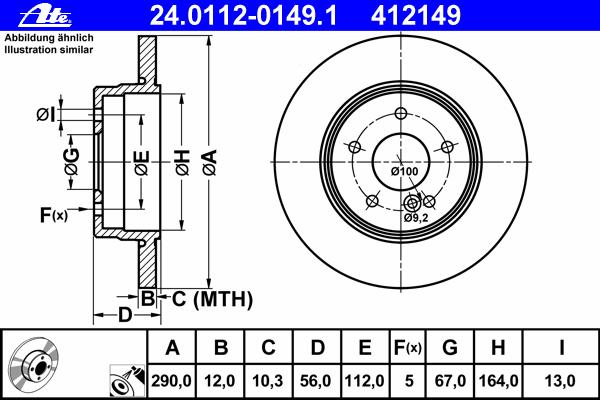 24011201491 Диск тормозной задн, MERCEDES-BENZ: E-CLASS универсал E 200 T/E 200 T Kompressor/E 200 T Kompressor/E 220 T CDI/E 22
