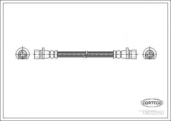19032550 Шланг тормозной Re HO HR-V 1.6 16V 99-