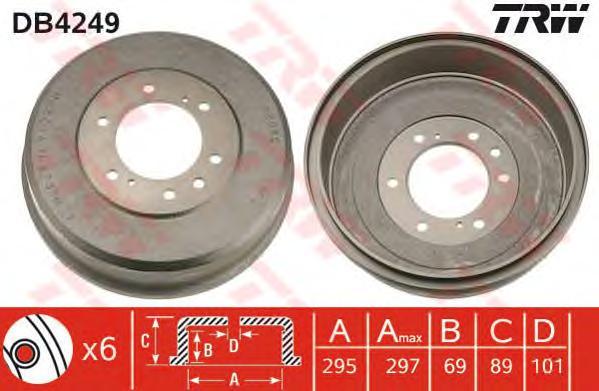 DB4249 Барабан торм. NISSAN PATHFINDER 97-04