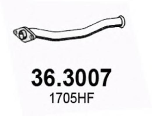 363007 Труба выхлопного газа