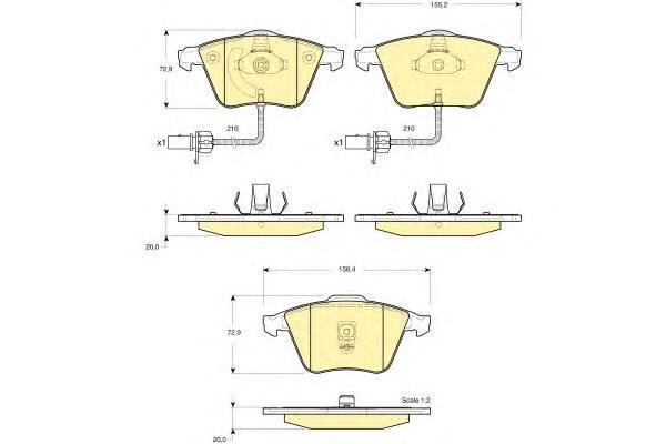 6115282 Колодки тормозные AUDI A6/ALLROAD 97-05 передние