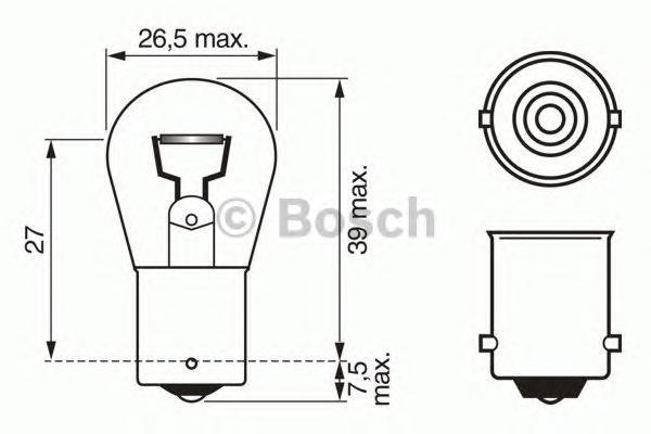 1987302526 Лампа 24V 15 W BA15s Trucklight